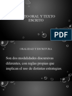 Texto oral y texto escrito