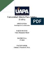 SOCIOLOGIA DE LA EDUCACION (UNIDAD V)