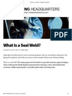 What Is a Seal Weld_ - Welding Headquarters