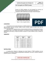 Especificação duto corrugado kanalex
