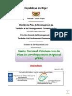 Guide national de formulation du PDR