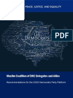 2020 Democratic Party Platform Recommendations by Muslim Coalition