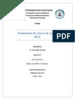 Tratamiento de Ca de vejiga BCG