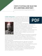 La Revolucion Cultural de Mao Tse Tung en China Historia Resumen