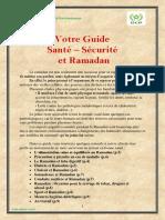 Guide Santé- Sécurité et Ramadan 2018