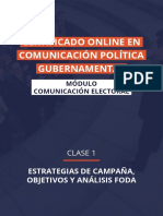 Estrategias de campaña, objetivos y análisis FODA