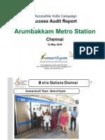 20. Arumbakkam Metro Station Chennai AIC Access Audit Report