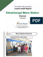 17. Ekatuntatangal Metro Station  Chennai AIC Access Audit Report
