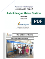 18. Ashok Nagar Metro Station  Chennai AIC Access Audit Report
