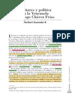 Herbert koeneke - Militares y política en la Venezuela de Hugo Chávez Frías.pdf