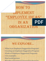 Employee Ideas in Organization