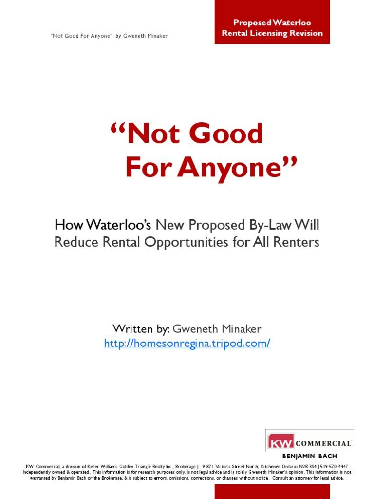 Waterloo Ontario\'s Proposed Revised Rental Licensing Program 1 ...