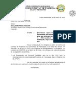 carta pide documentos a personal