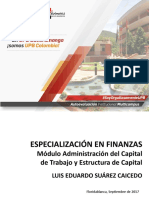MÓDULO CAPITAL DE TRABAJO Y COSTO DE CAPITAL - SEPTMBRE DE 2017