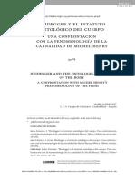 2020-06-04 HEIDEGGER Y EL ESTATUTO ONTOLOGICO DEL CUERPO