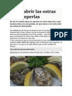 Cómo abrir las ostras sin romperlas