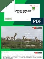 DECLARACION DE MANEJO DE VICUÑAS