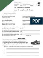 2º ACTIVIDADES COMPLEMENTO DIRECTO - III UNIDAD