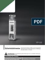 Samsung YP-U2 Manual