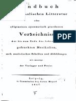 Handbuch der musikalischen Literatur (1817)