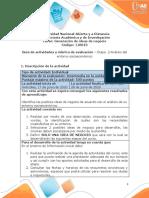 Guía de actividades y rúbrica de evaluación - Unidad 1 - Etapa 2 - Análisis del entorno socioeconómico