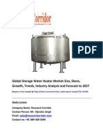 Global Storage Water Heater Market Size, Share, Growth, Trends, Industry Analysis and Forecast to 2027