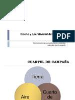 Diseño y operatividad del cuartel de campaña
