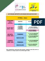 INSCRICIÓNS E CALENDARIOS FÚTBOL-SALA