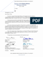 Letter to FBI Director Wray