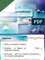 CLASIFICACION DE A MATERIA