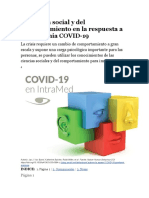 La ciencia social y del comportamiento en la respuesta a la pandemia COVID