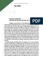 Cartas a quien quiere enseñar. Paulo Freire