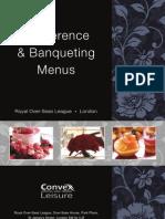Banqueting Menus From Septembe