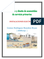 Selección y diseño de acometidas de servicio primarias