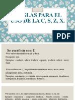 REGLAS PARA EL USO DE LA C,