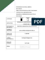 1era. Actividad - Características como emprendedor - 13-07-2020