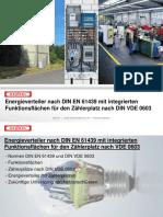 Energieverteiler nach DIN EN mit integrierten Funktionsflächen für den Zählerplatz nach DIN VDE 0603