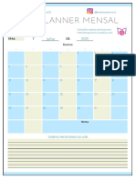 Planner mensal - MS