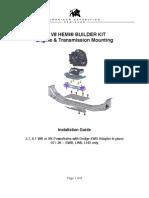 AEV JK HEMI Engine Transmission Mounting Kit