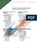 ListaFacultati.ro Subiecte Admitere Universitatea Bucuresti Teologie Ortodoxa 2005