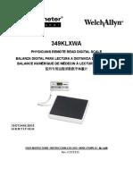 Welch Allyn Digital Scale 349KLXWA - User manual (en,es,fr)