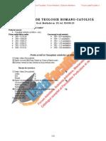 ListaFacultati.ro Subiecte Admitere Universitatea Bucuresti Teologie Romano-Catolica 2005