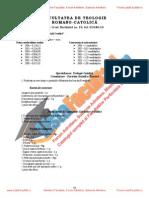 ListaFacultati.ro Subiecte Admitere Universitatea Bucuresti Teologie Romano-Catolica 2006