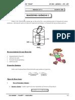 III BIM - QUIM - 4TO. AÑO - GUIA Nº 3 - Reacciones Químicas