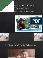 UNIDAD 1. SIGNIFICADO CONCEPTUAL DE LA EDUCACION