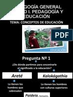TEMA. CONCEPTOS DE EDUCACION