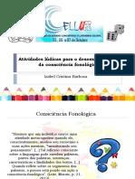 Izabel Cristina Barbosa - Atividades lúdicas para o desenvolvimento da consciência fonológica