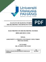 Assignment 3 (HA16025)