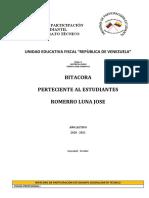 BITÁCORA DE PARTICIPACIÓN ESTUDIANTIL BACHILLERATO TÉCNICO 2020