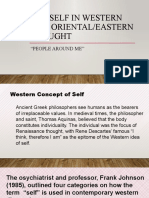 THE SELF IN WESTERN AND ORIENTAL